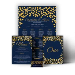 Golden Fairy Light Stationary