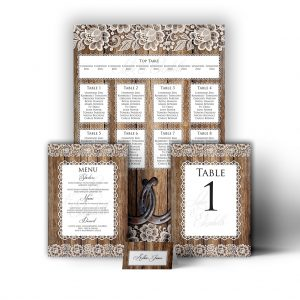 Wood & Lace Stationary