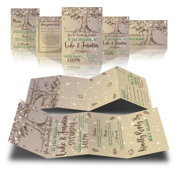 Rustic Sketch Tree Invite