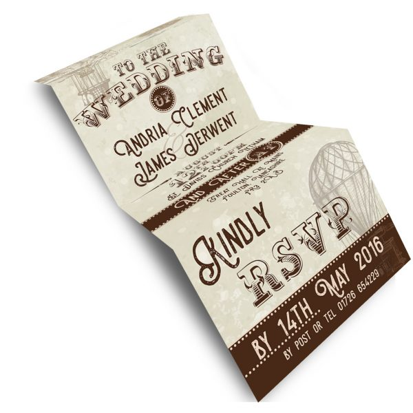 Vintage Balloon Invite