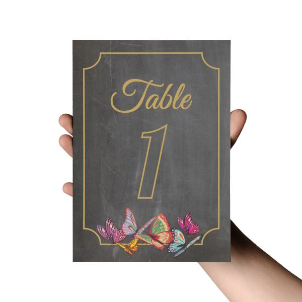 Butterfly Chalkboard Stationery