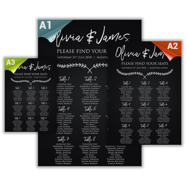 Chalkboard Laurels Stationery Set