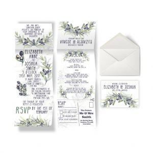 Olive Wedding Invite