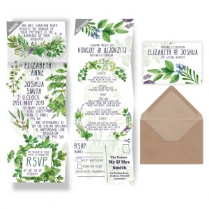 Herb Garden Wedding Invite