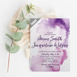 Ultra Violet Wedding Invite