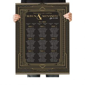 Great Gatsby Art Deco Seating Chart