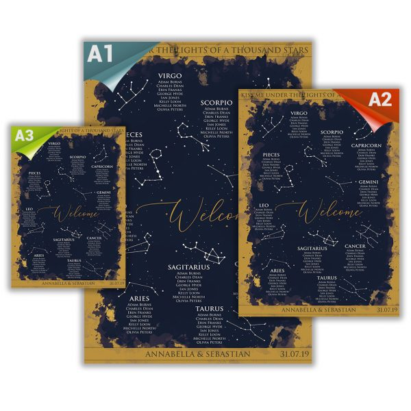 Blue Constellation Table Plan