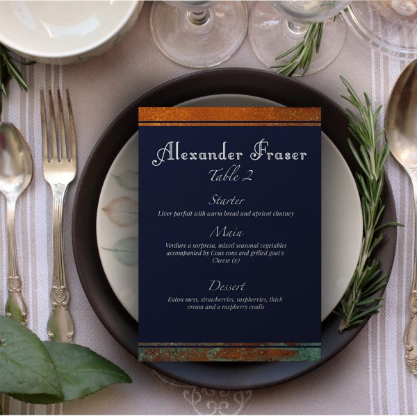 Copper & Navy Seating Chart