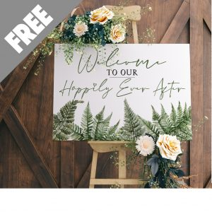 Woodland Fern Wedding Welcome Sign