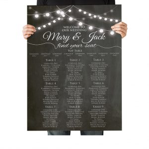 Chalkboard Festoon Wedding Table Plan
