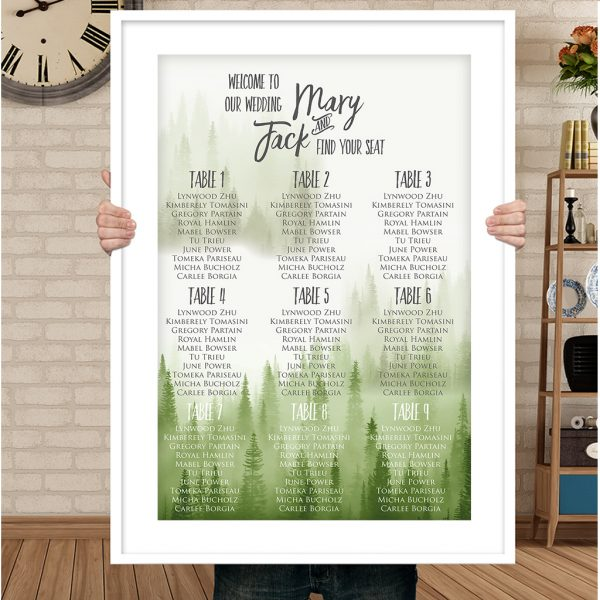 Forest Woodland Wedding Seating Chart