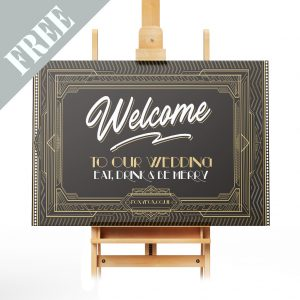 Art Deco Wedding Welcome Sign