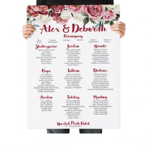 Dusky Pink Rose Table Plan