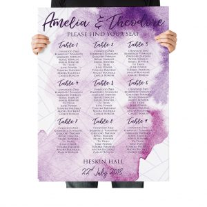Ultra Violet Wedding Table Plan