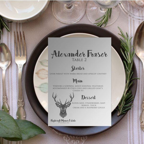 Country Stag Wedding Table Plan